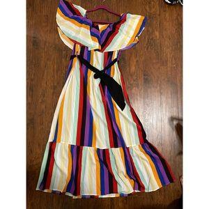 Shein OTS color block dress
